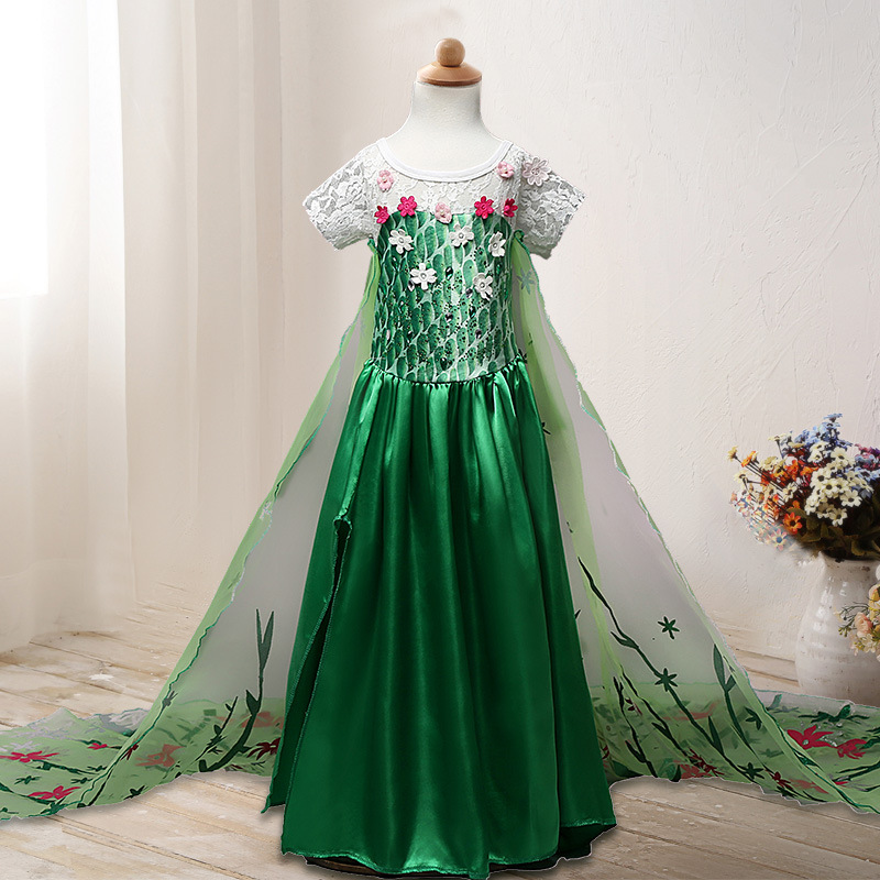 Women Gown Summer time Children Women Gown Woman's Elsa Anna Gown Princess Cosplay Get together Attire Child Children Garments Women Clothes Attire, Low-cost Attire, Women Gown Summer time Children...