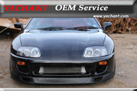 Car Styling FRP Fiber Glass Front Lip Splitter Fit For 1993 1998 Supra MK4 GRD Gracer Style RMM Style MVP Style Front Bumper Lip