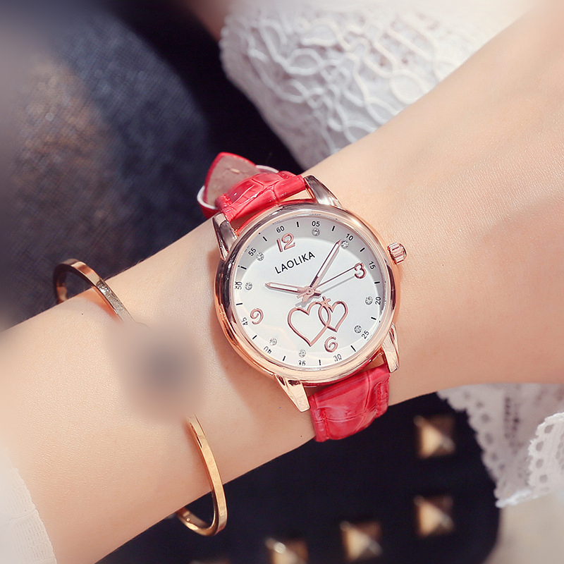 New Heart shaped Simple Fashion Watch for Women and Student Popular Gifts for Women Quartz Fashion amp Casual Leather Belt in Women 39 s Watches from Watches