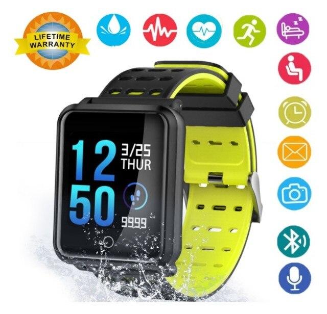 4a1d61c77d83 € 24.3 30% de DESCUENTO|Smart watch presión arterial Frecuencia Cardíaca  monitor de oxígeno N88 impermeable pulsera inteligente Fitness Tracker ...