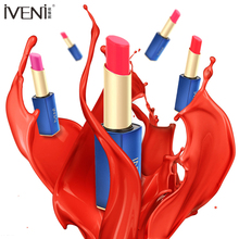 IVENI Brand wholesale hot Lipstick Rose Gold Fruity Lipstick Makeup For Bold Color Velvet Moisturizing matte lipstick	 6 colors