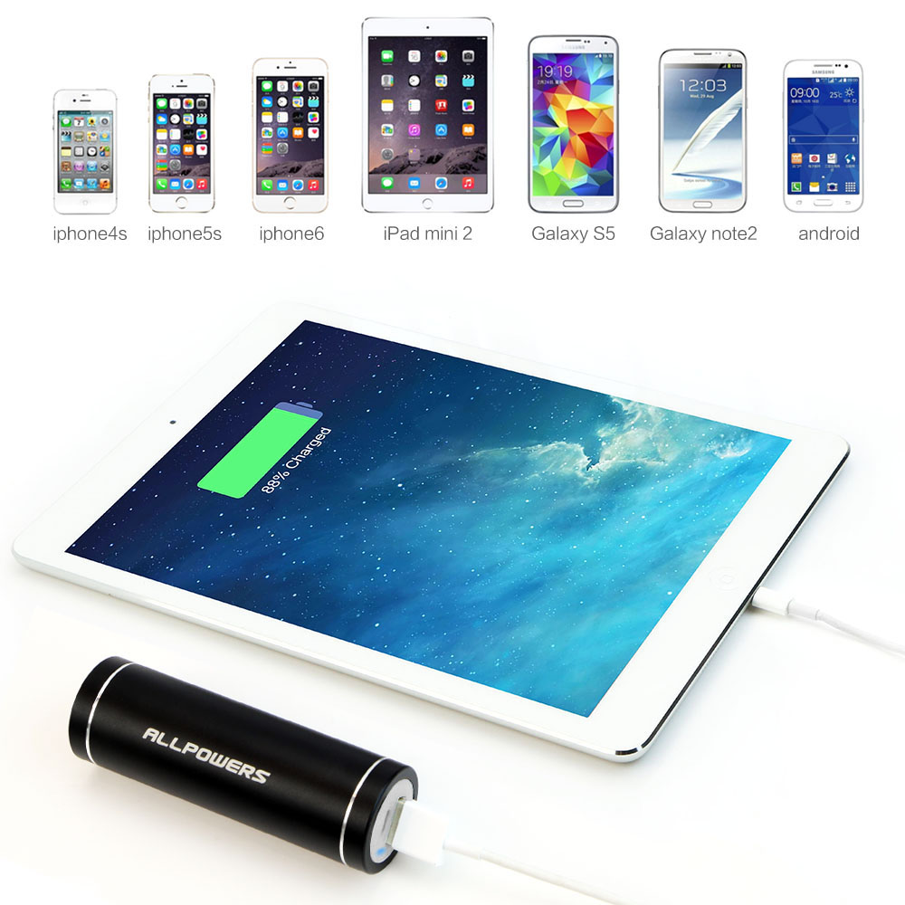 Allpowers Mini Power Bank 5400mah Portable External Battery Charger Sterling Usa 20 Amp 2 Pac For Iphone 6 6s Samsung Galaxy S7 S8 Huawei In From Cellphones