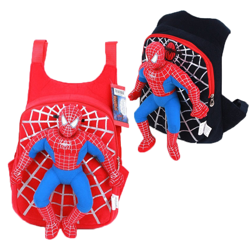 Spiderman Backpack Schoolbag Gift-Bags Baby Student Girl Children's Cartoon New Plush