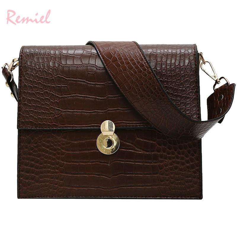 Vintage Fashion Female Tote bag 2019 New Quality PU Leather Women's Designer Handbag Crocodile Pattern Shoulder Messenger Bags