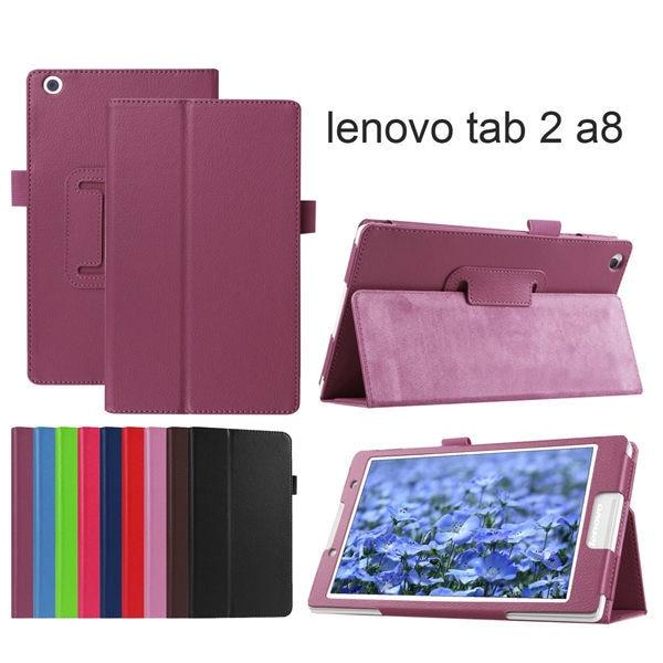 Kaitsekott Folio PU nahast kaitseümbris Lenovo Tab 2 A8-50LC Litchi - Tahvelarvutite tarvikud - Foto 6