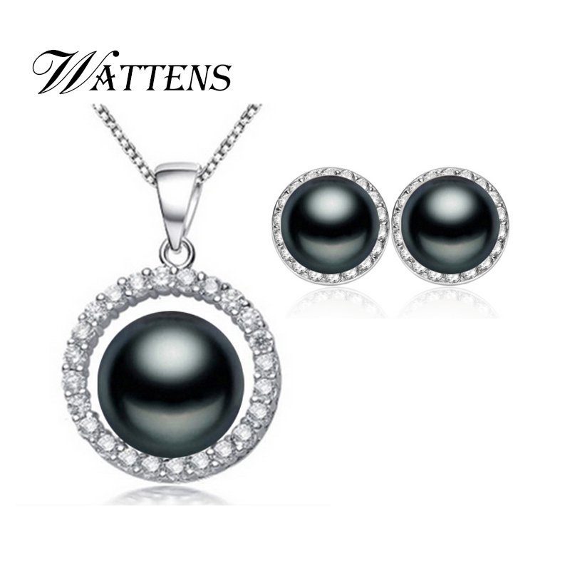 3dc44dc39cc7 WATTENS hermoso conjunto de joyas de perlas naturales de agua dulce de la  boda 925 joyería