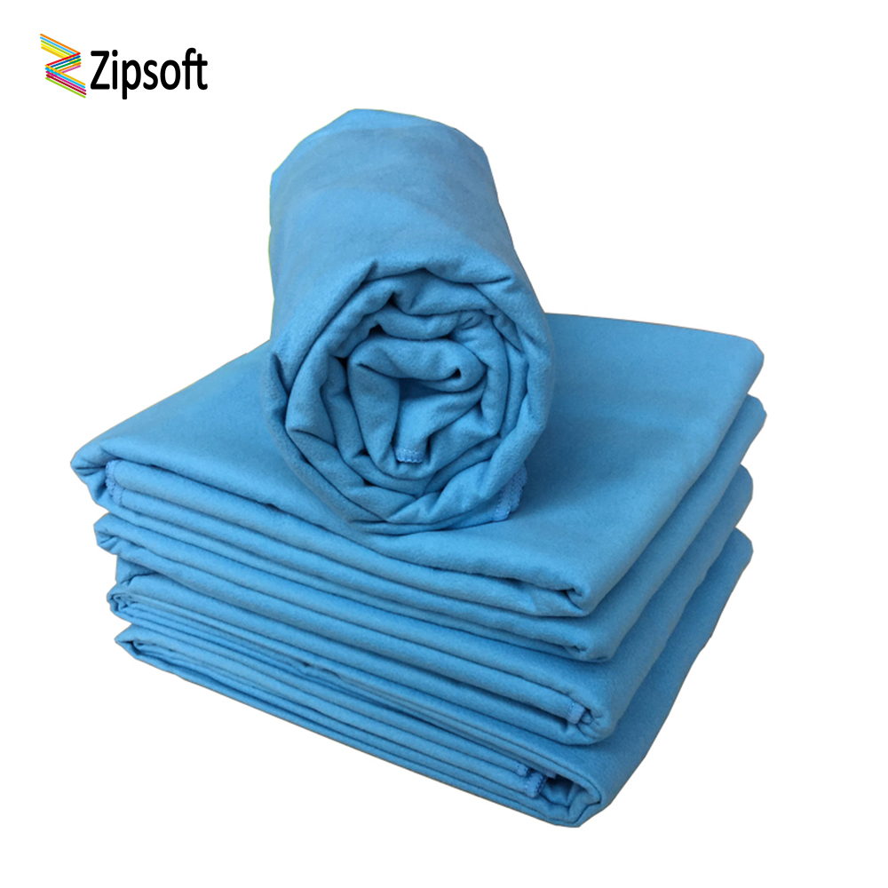 Zipsoft Yoga Mat Large Beach towel Microfiber Blue Quick-drying Towels lightweight Bath Camping Travel toalha banho wholesale microfiber sports and travel towel with bag beach towels quick drying bath camping campaign tourist swimwear yoga mat 2018 new