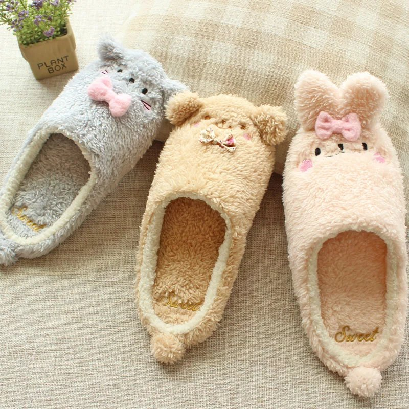 Image 5 - Millffy new warm winter cute adorable bunny slippers rabbit super soft warm anti  slip house wear bedroom shoesbedroom shoesbunny slippersslippers rabbit -