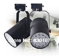 10pcs Lot Free Shipping18W High Power Led Track Light White Black Shell AC85 265V CE RoHS
