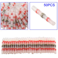 50 Pcs Soldering connector with Shrink Tube Electrical Wire Splice Insulated Welding Terminals @8 JDH99