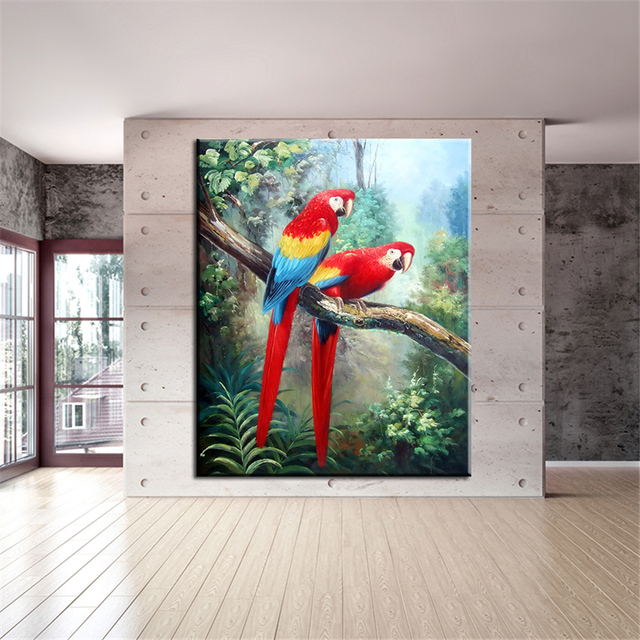 Artisan Home Decor design engineering construction interior design and dcor by the artisan homes team of fine home building Dp Artisan No Frame Colorful Parrot Animal Arts Printed Oil Painting On Canvas Wall Painting For