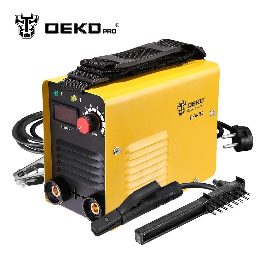 DEKOPRO DKA-160 160A 4.1KVA IP21S inversor máquina de soldadura por arco eléctrico MMA soldador soldadura de trabajo y trabajo eléctrico
