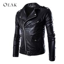 Oeak осенние куртки из искусственной кожи мужские повседневные кожаные пальто Мужская куртка-бомбер верхняя мужская куртка больших размеров chaqueta hombre