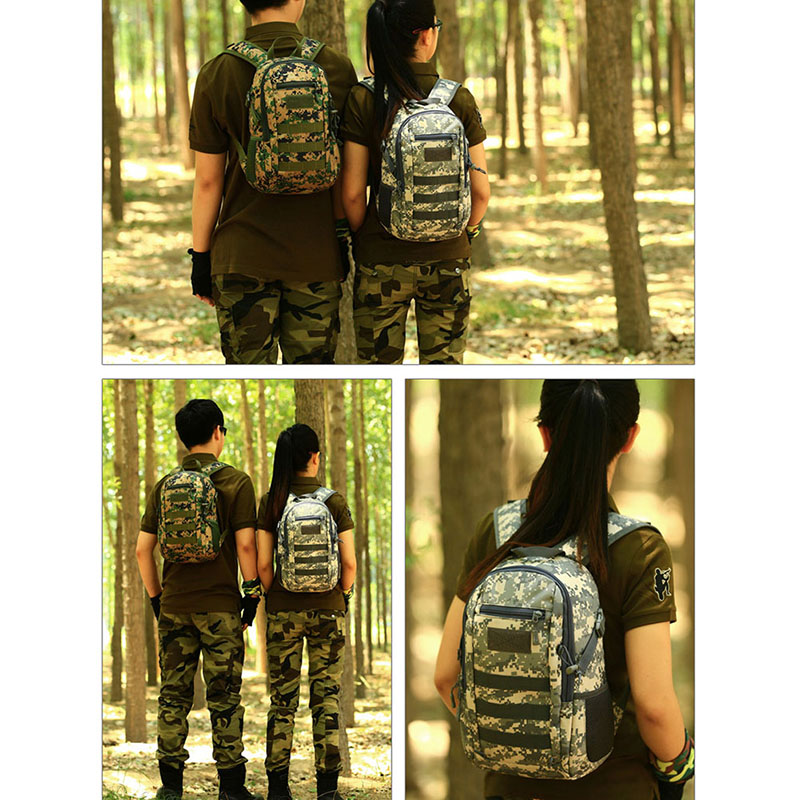 Mini 12L Daypack Military MOLLE Backpack Rucksack Gear Tactical Assault Pack Student School Traveling Camping Trekking Bag lqarmy 3 day expandable backpack with waist pack large rucksack tactical backpack molle assault bag for day hiking tan