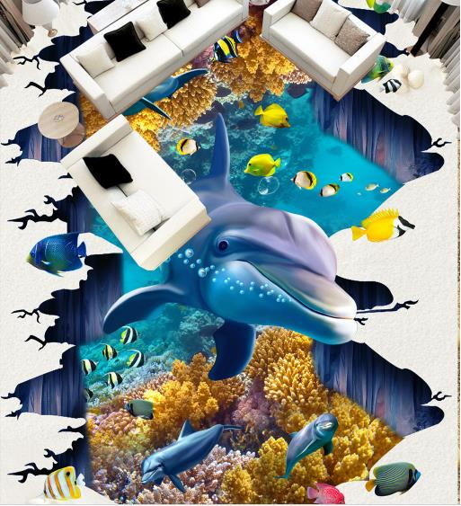 3D Flooring Customize The underwater world 3D Mural Wallpaper Vinyl Flooring adhesives 3D Photo Wallpaper3D Flooring Customize The underwater world 3D Mural Wallpaper Vinyl Flooring adhesives 3D Photo Wallpaper