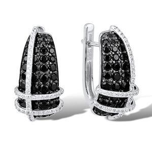 Image 3 - SANTUZZA כסף עגילי עבור נשים אותנטי 100% 925 סטרלינג כסף למעלה איכות טבעית שחור אבנים אלגנטי תכשיטים