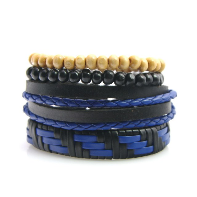 Wood Beads Wax Rope Leather...