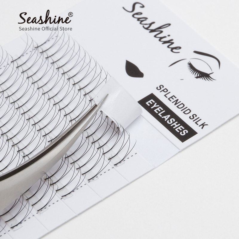 Seashine Individual Lash Eyelash Extensions Russian Volume False Lash Private Label 2D Long Roots Faux 10Trays/Lot Free Shipping недорого