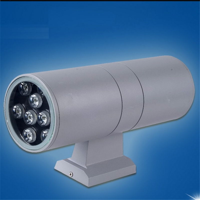 100-240Vac 18W IP65 double side color emitting outdoor surface mounted led wall lamp for fascade ,villa ,porch ,garage