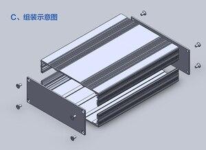 Image 4 - מארז אלומיניום פרויקט תיבת פיצול סוג מארז PCB 145x54x200mm DIY מגבר הפצת תיבה