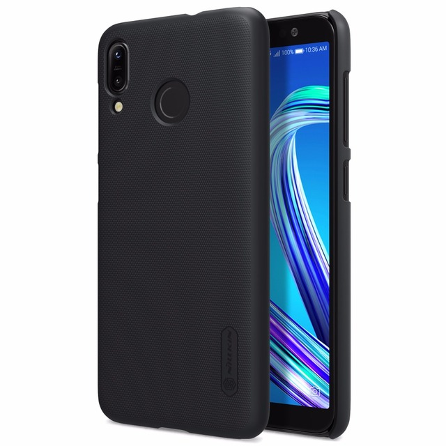 online store 1d027 d8ed1 US $7.99 5% OFF|Case For Asus Zenfone Max M1 ZB555KL Matte Cover Original  NILLKIN Super Frosted Shield Back Case with Free Screen Protector-in Fitted  ...
