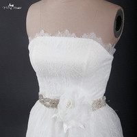 RSS8 Customized Flores Wedding Dress Belt Rhinestone Bridal Belt
