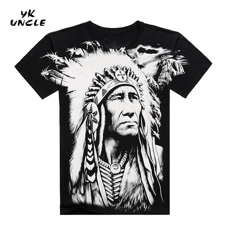 Gratis frakt 2016 Famous Brand Design Fashion Mens Indians Print - Herreklær