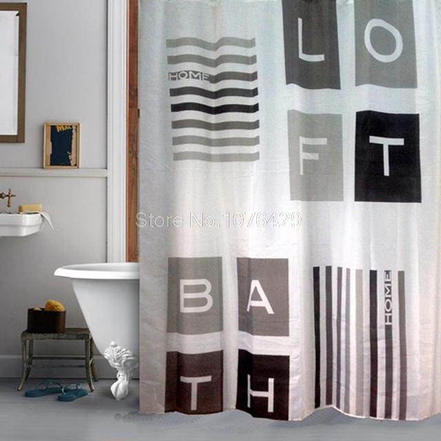 Tenda Della doccia Loft Style Industrial Design Bagno Tessuto ...