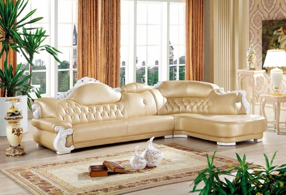 Amerikanischen Ledercouchgarnitur Wohnzimmer Sofa China L Form Ecksofa HolzrahmenChina Mainland