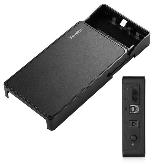 Zheino 3.5 Pulgadas USB 3.0 Disco Duro HDD Externo Caja Caso, 12 V 2.5A Adaptador de Corriente y USB3.0 Cable de Datos sin Necesidad de Herramientas