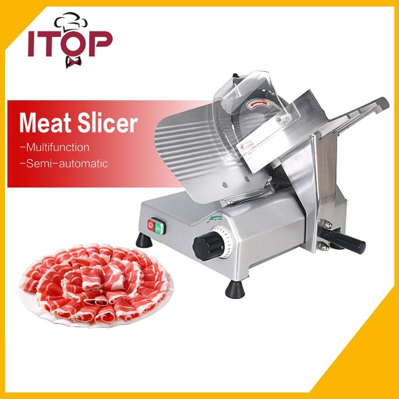 110V 220V Commercial Frozen Meat Slicer Heavy Duty Semi-automatic Ham Cutter Suitable for Hot Pot Restaurant