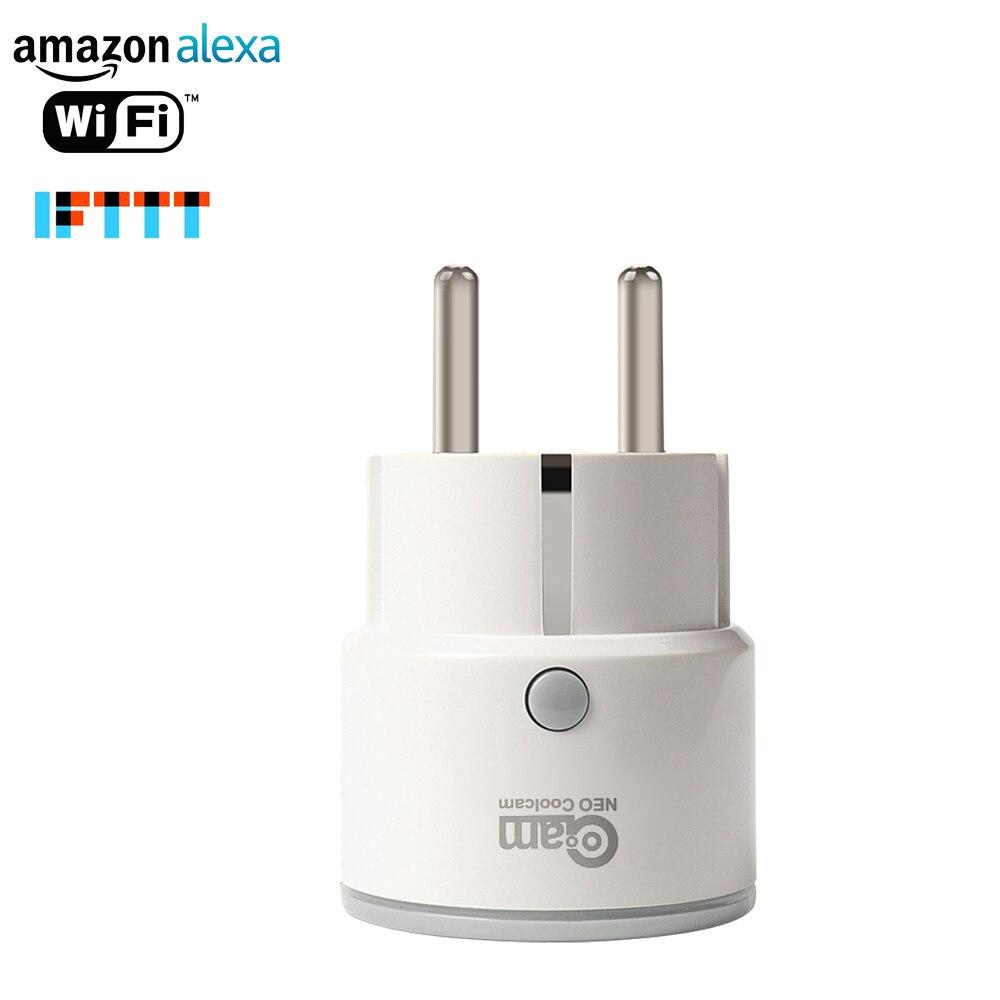 NEO COOLCAM Wifi Smart Plug UE Socket Soutien Alexa, Google Maison, IFTTT Sortie Avec Minuterie et Télécommande Via Mobile Téléphone
