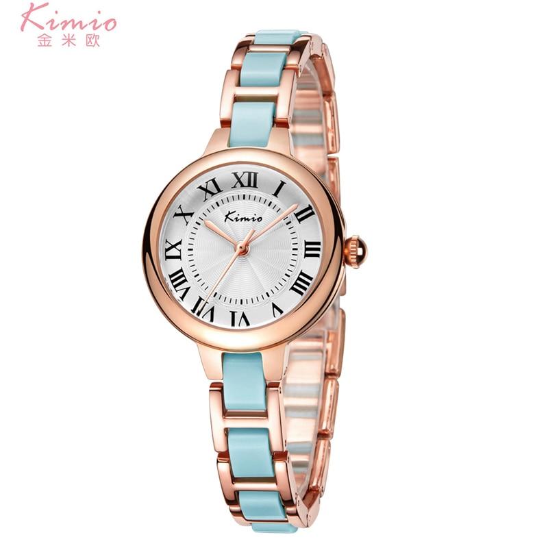 KIMIO Women Bracelet Wrist Watches Simple Analog Girls Fashion Quartz Watch Clock Female Luxury Wristwatch Relogio Feminino стоимость