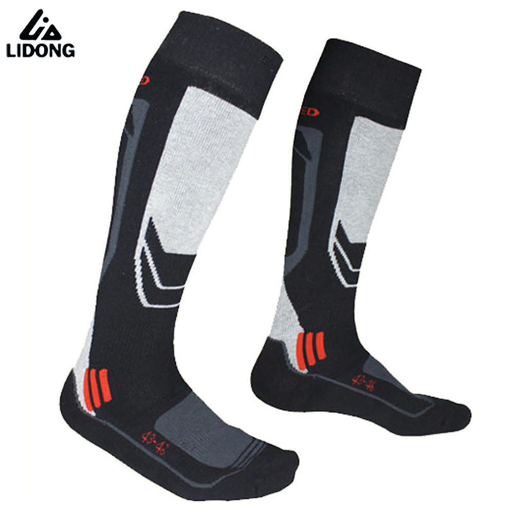 Invierno espesar caliente hombres esquí térmica calcetines gruesos de algodón deportes Snowboard ciclismo esquí calcetines Thermosocks calentadores de pierna sox