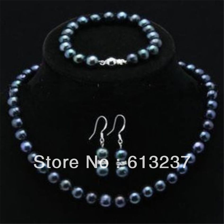 "8-9 MM Véritable Lavande Akoya Cultured Pearl Collier Aimant Fermoir 18/"" AA"