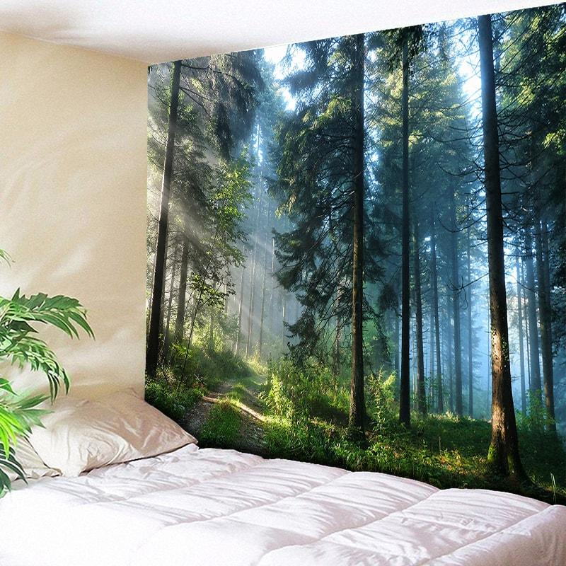 Beautiful Natural Forest Printed Large Wall Tapestry Cheap Hippie Wall Hanging Bohemian Wall Tapestries Mandala Wall Art Decor
