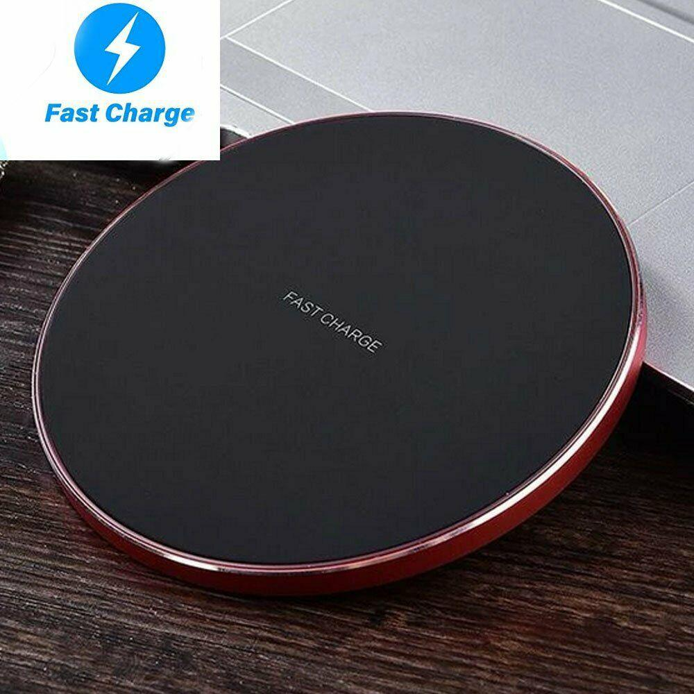 DSstyles Luxury Qi 10W Fast Wireless Charger for Iphone Samsung Galaxy S10 Plus S9 S8 S7 Note 9 8 LG Huawei Free Shipping