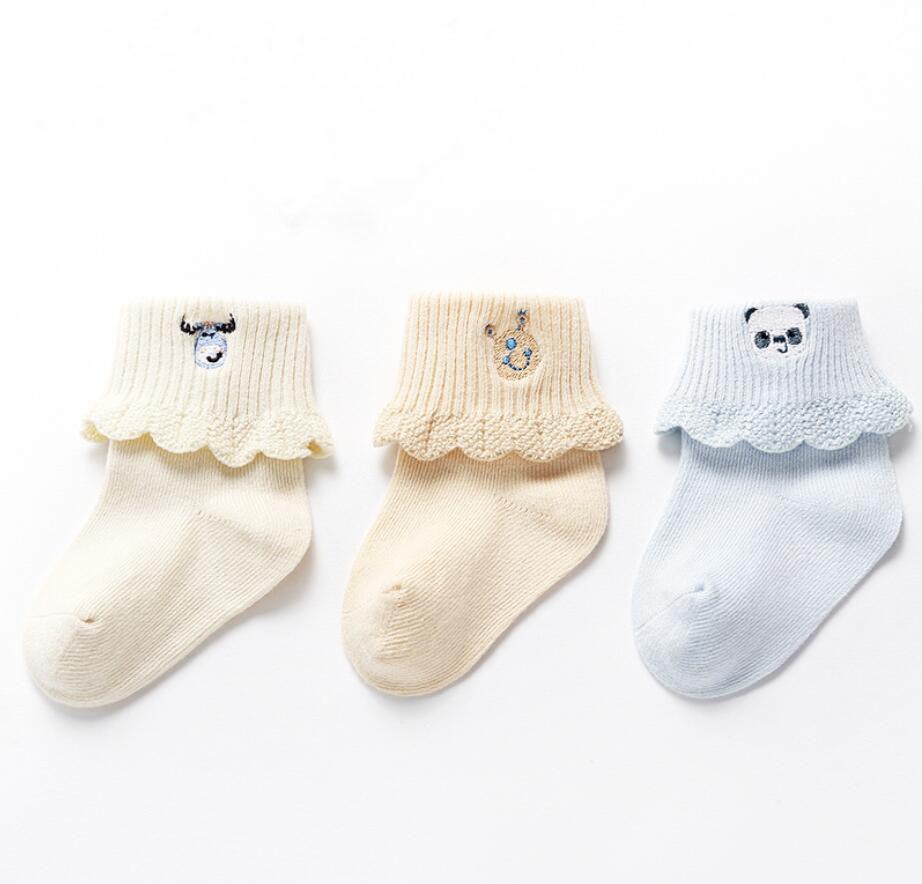 0-3 T 3 Paare/los Kinder Socken Niedlichen Cartoon Stickerei Baby Mädchen Socken Baby Dusche Geschenke Baby Jungen Winter Herbst Frühling Baumwolle Socken Kataloge Werden Auf Anfrage Verschickt