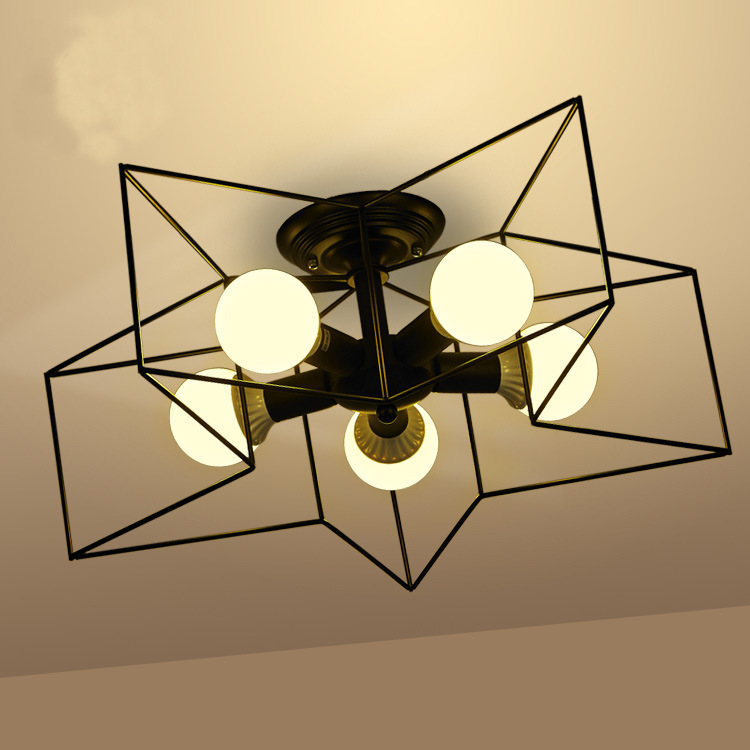 Retro Creative Metal Flush Mount 1/5 light ceiling lamp Cafe Bar Ceiling Chandelier Fixure lamparas de techo modernas led