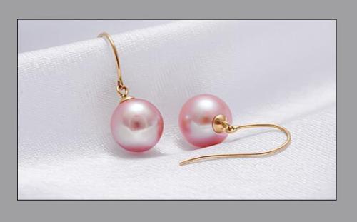 10mm Real Drop Pink south sea Pearls Dangle Earring цена