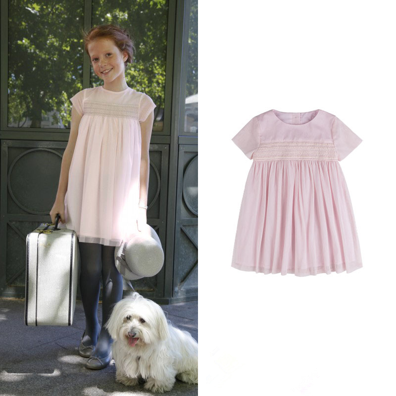 Girls Elegant Princess Powder High-end Technology High Chest Line Cotton Net Yarn Doll Dress high end technology for effective glass manufacturing industry