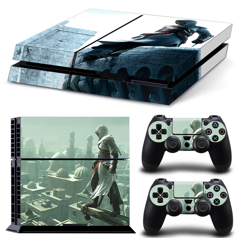 Free drop shipping video game style decals for Sony PS4 Console + 2PCS Controllers Skin Sticker #TN-P4-10367