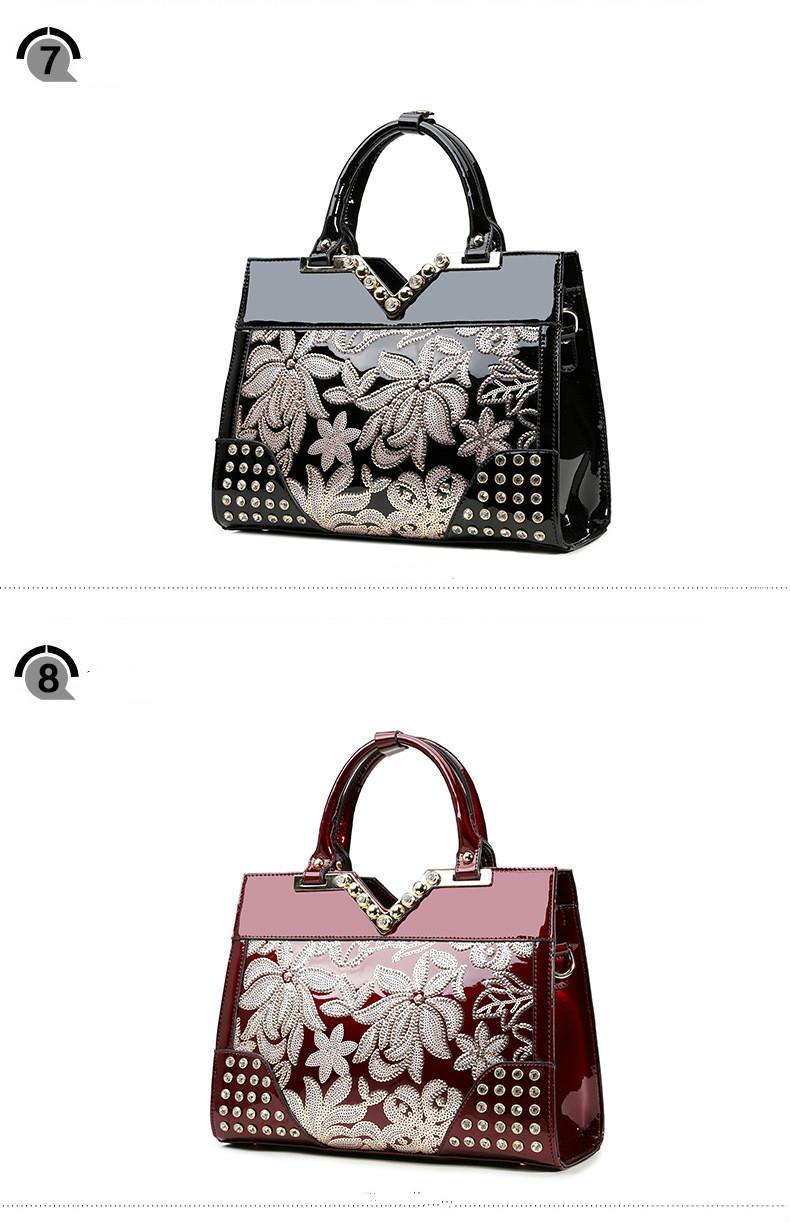 30c249259f18c Kobiet torebki luksusowe skóry lakierowanej koronka wysokiej jakości  tłoczone messenger torby torebki damskie znanych marek projektant v torba  kobiet sac