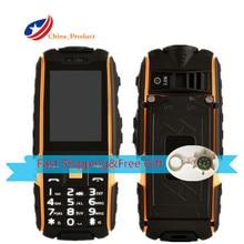 Oryginalny DTNO. I IP67 Wodoodporna, odporna na wstrząsy A9 4800 mAh telefon z Rosyjska klawiatura Zewnętrzna telefony komórkowe Z Kompas key łańcuch