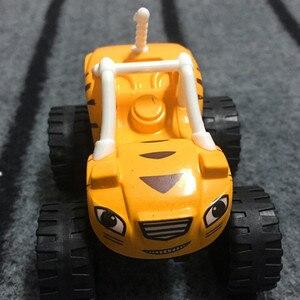 Image 5 - Blaze jouet de course automobile, voitures de course, sacs de course pour enfant, sacs de course, camions, figurines daction, sacs OPP, cadeau pour enfant 6 pièces