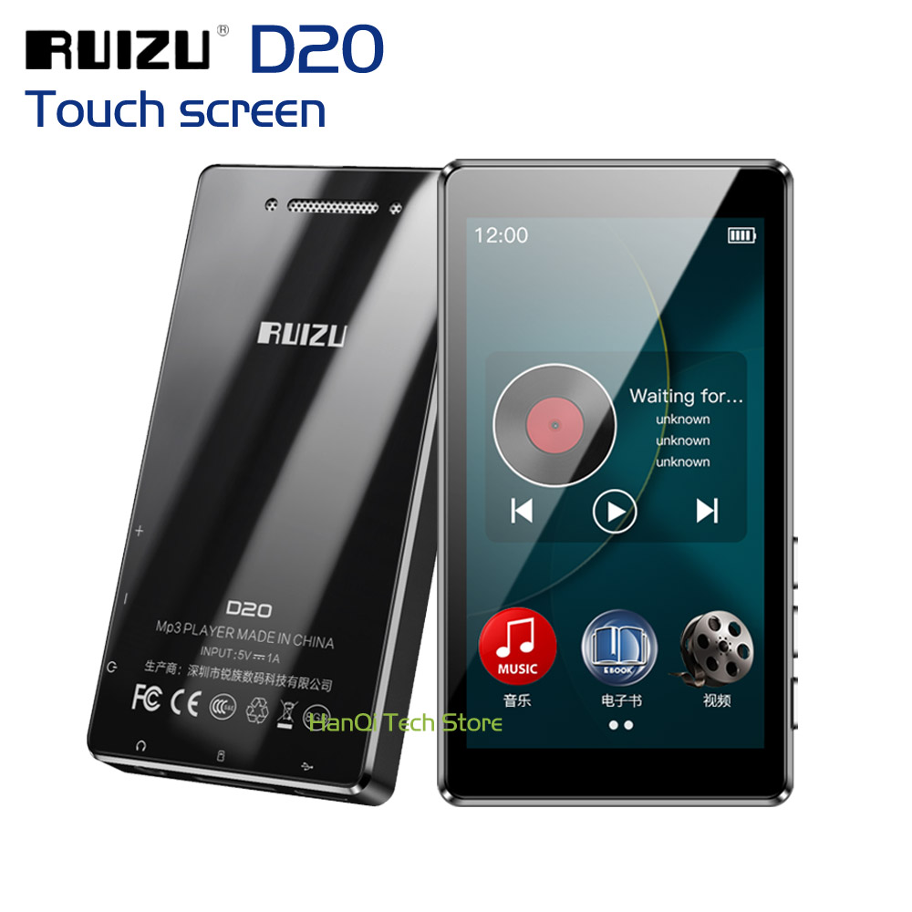 New RUIZU D20 Full Touch Screen MP3 Player 8GB Music Player Support FM Radio Recording Video Player E-book With Built-in Speaker