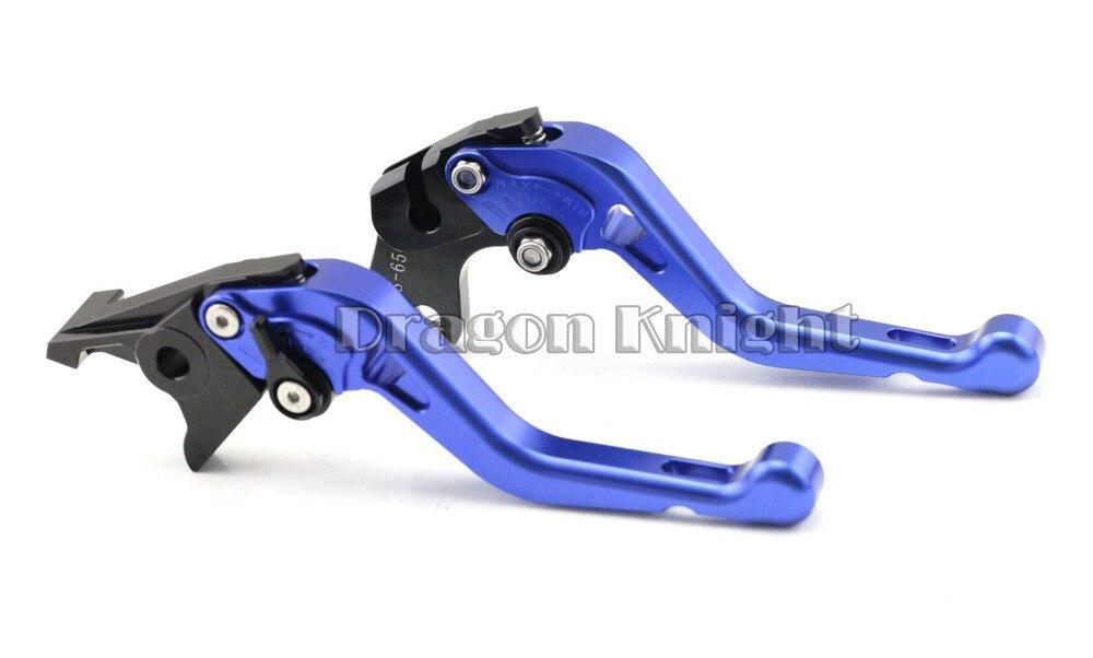 Buy Motocycle Accessories For SUZUKI GSX 600/750F KATANA 98-06 Short Brake Clutch Levers Blue