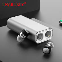 TWS Mini Bluetooth Earphone Wireless Earbuds Stereo 2100mAh Power Bank for phone sport IPX7 waterproof with microphone YZ128