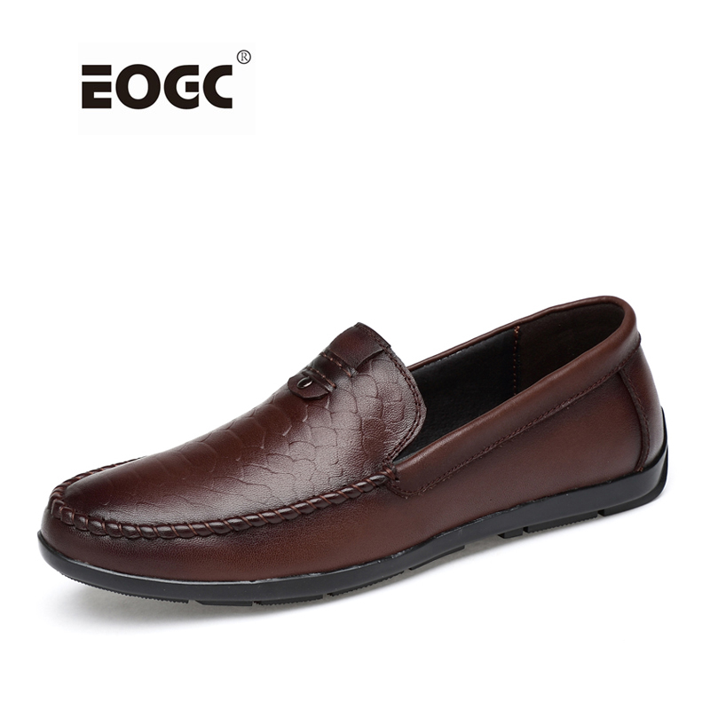 Shoes men breathable natural leather casual shoes Handmade flats Plus size loafers moccasin,Driving men shoes branded men s penny loafes casual men s full grain leather emboss crocodile boat shoes slip on breathable moccasin driving shoes