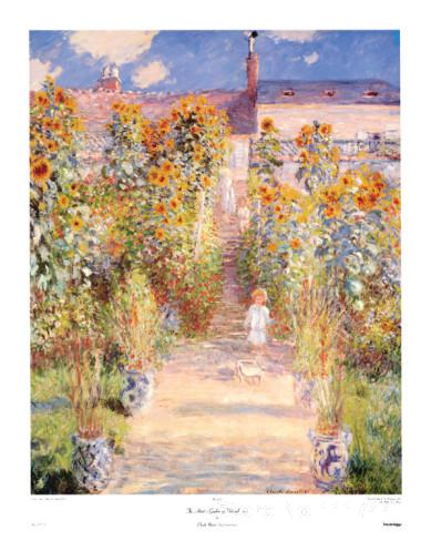 Paintings For A New House Artists Garden Vetheuil Claude Monet Handmade Oil  Painting High Quality(